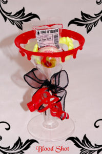 Blood shot bloody rimmed party favor